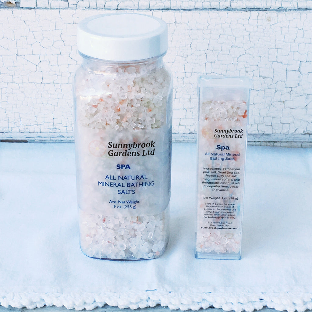Spa Mineral Bathing Salts, handcrafted, all natural and vegan friendly