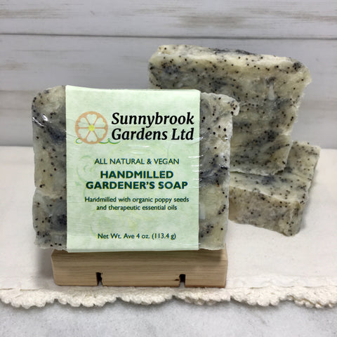 Enjoy all natural, vegan friendly, long lasting Hand-milled Gardener's Soap from Sunnybrook Gardens Ltd