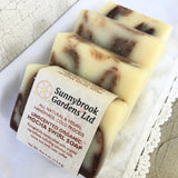 Relax and enjoy our all natural, vegan friendly Mocha Swirl Soap
