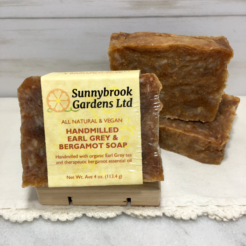 Enjoy our all natural, vegan friendly Hand-milled Earl Grey and BergamotSoap