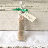 All Natural Dark Green Rosemary Mint Mineral Bathing Salt Thank You Shower and Party Favors