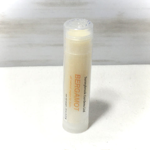 Bergamot Lip Balm, all natural, vegan friendly