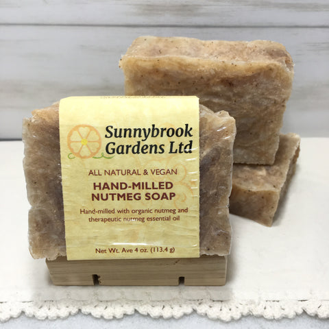 Hand-milled Nutmeg Soap, all natural and vegan friendly