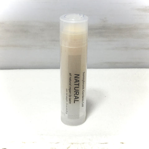 Unscented Natural Lip Balm, all natural, vegan friendly