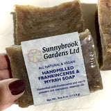 Relax and enjoy our long-lasting Hand-milled Frankincense and Myrrh Soap