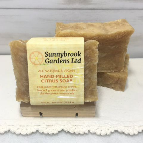 Enjoy our all natural, vegan friendly Hand-milled Citrus Soap