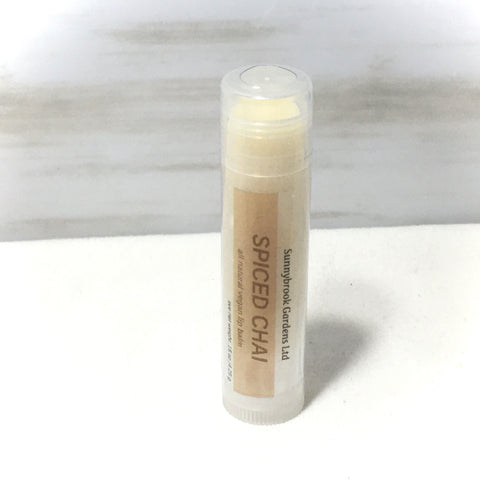 Spiced Chai Lip Balm, all natural, vegan friendly