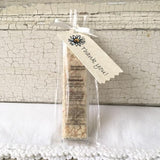 All Natural white Unscented Oatmeal Mineral Bathing Salt Thank You Shower and Party Favors