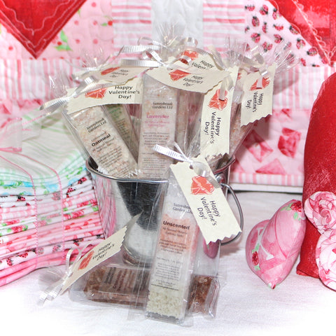 Valentine's Day Mineral Bathing Salt Party Favors