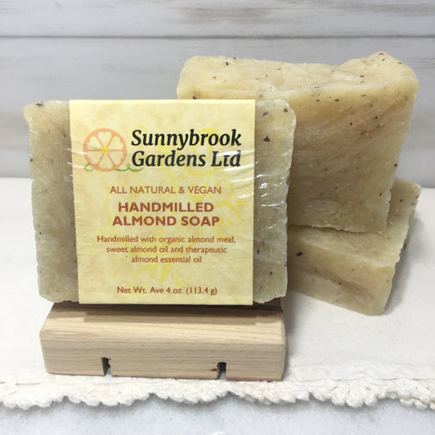 Enjoy our all natural, vegan friendly Hand-milled Almond Soap