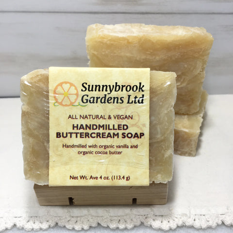 Enjoy our all natural, vegan friendly Hand-milled Buttercream Soap