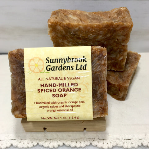 Hand-milled Spiced Orange Soap, all natural and vegan friendly
