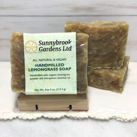 Lemongrass Hand-milled Soap, handcrafted, all natural and vegan friendly