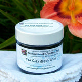 SMALL ALL NATURAL SEA CLAY FACE AND BODY MUD MASK, GENTLY SCENTED WITH ESSENTIAL OILS