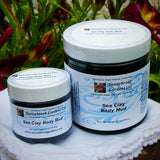 ALL NATURAL SEA CLAY FACE AND BODY MUD MASK, GENTLY SCENTED WITH ESSENTIAL OILS