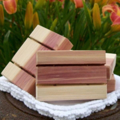 Cedarwood Soap Dish, all natural and hand-crafted especially for our soaps! - Sunnybrook Gardens Ltd - 1
