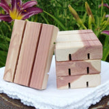 Cedarwood Soap Dish, all natural and hand-crafted especially for our soaps! - Sunnybrook Gardens Ltd - 2