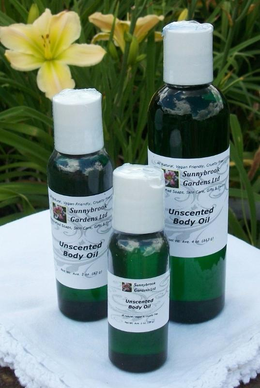 Special Order Unscented Body Oil from Sunnybrook Gardens Ltd