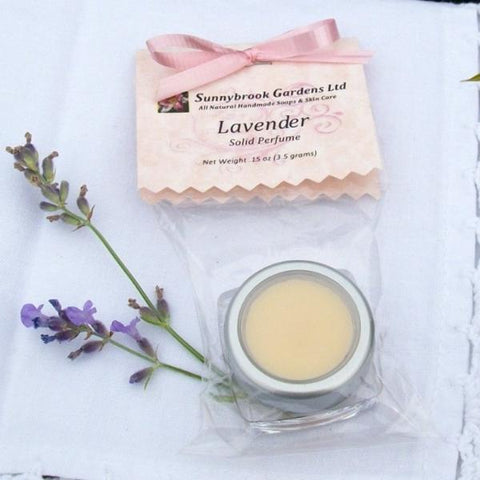 Lavender Solid Perfume, handcrafted, all natural, vegan friendly, cruelty free - Sunnybrook Gardens Ltd - 1