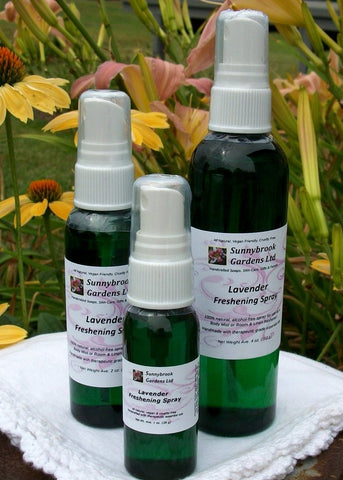 SPECIAL ORDER Freshening Sprays, all natural, alcohol free and scented with essential oils