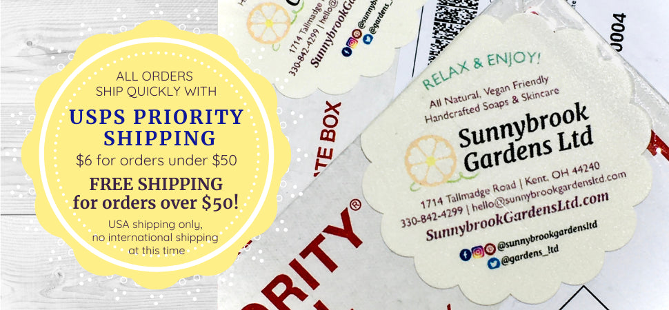 Enjoy USPS Priority Shipping for all orders, FREE with purchase of $50 or more!