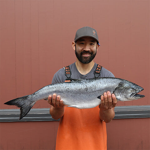 Whole Wild King Salmon, Fresh