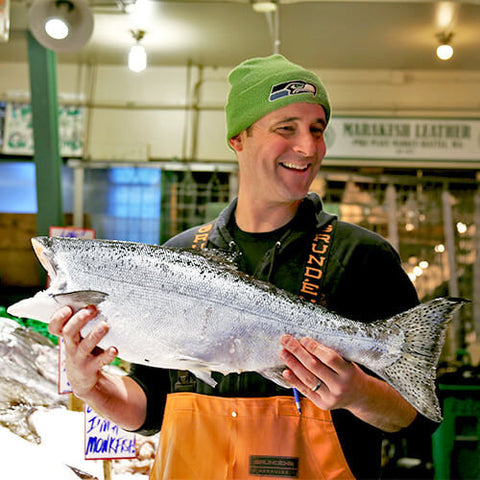 Whole King Salmon, Frozen at Sea