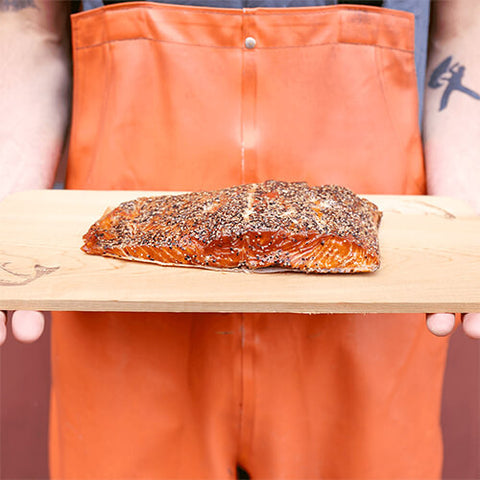 Alderwood Smoked Wild King Salmon - Garlic & Pepper