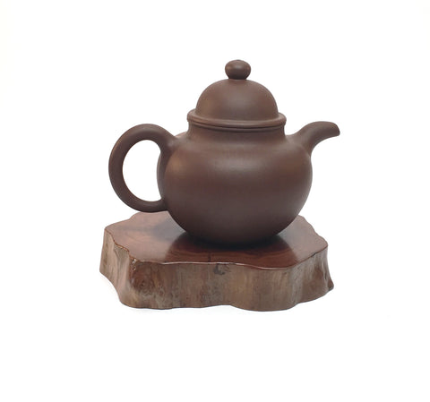 Small Bell Teapot-brown clay