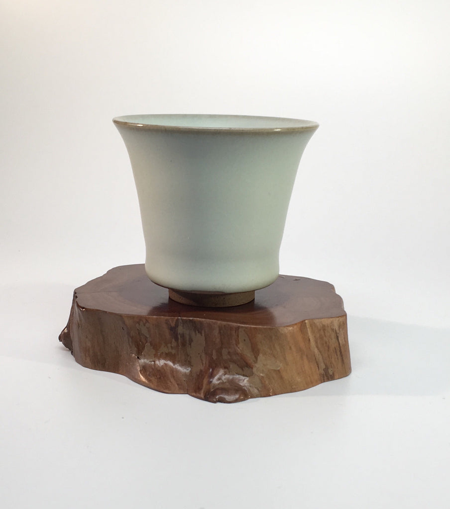 Celadon Tea Cup-Brown Base