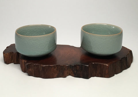 Celadon Crackle Tea Cups