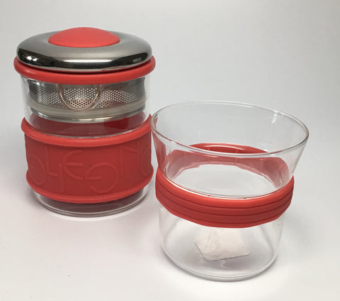 Eilong Ring Tea Set-Red