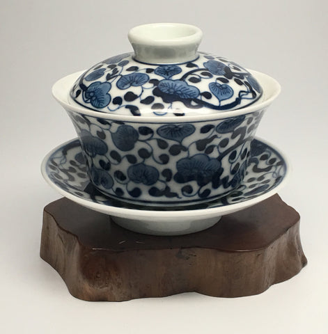 Blue on White Floral Gaiwan