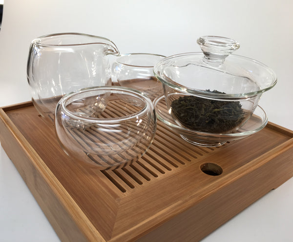 Glass tea cups double wall