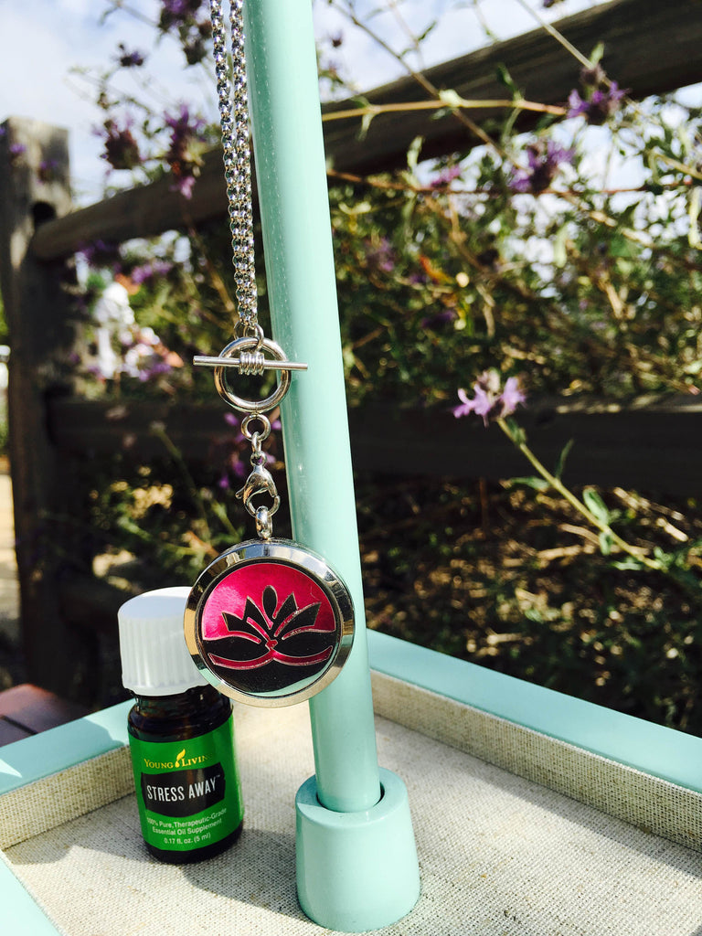 LOTUS FLOWER Diffuser Necklace
