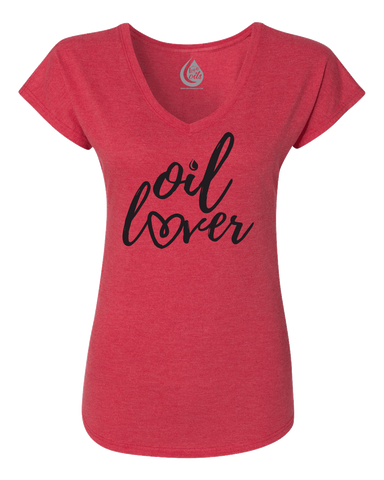 Oil Lover T-Shirt - Vintage Red