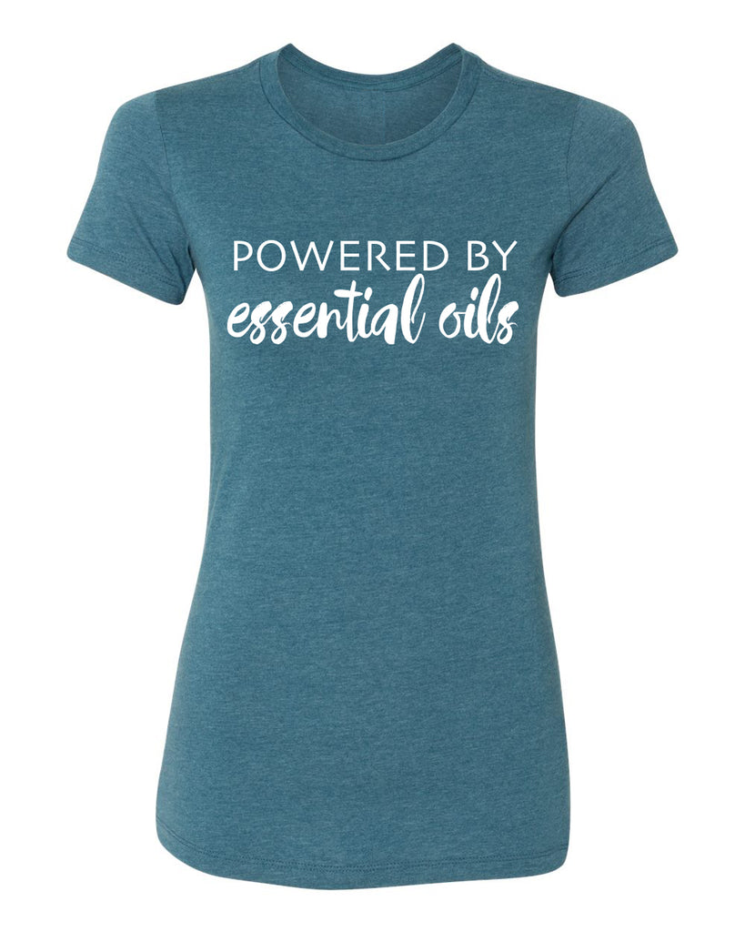 Powered by Essential Oils - Heather Teal T-Shirt