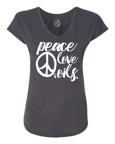 Peace Love & Oils V-Neck