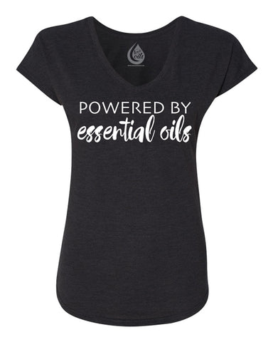Powered by Essential Oils - Black T-Shirt