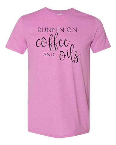 Runnin' on Coffee & Oils Tee - Orchid Unisex Tee