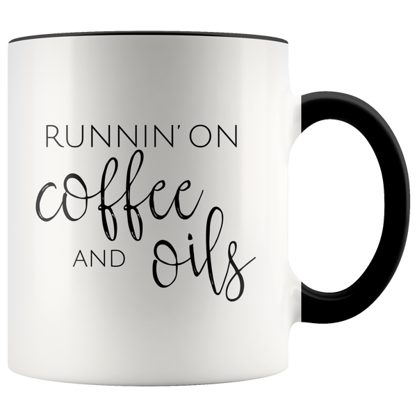 Runnin' on Coffee & Oils Mug