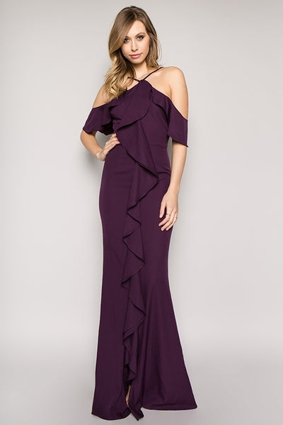 IVAELLE PLUM GOWN