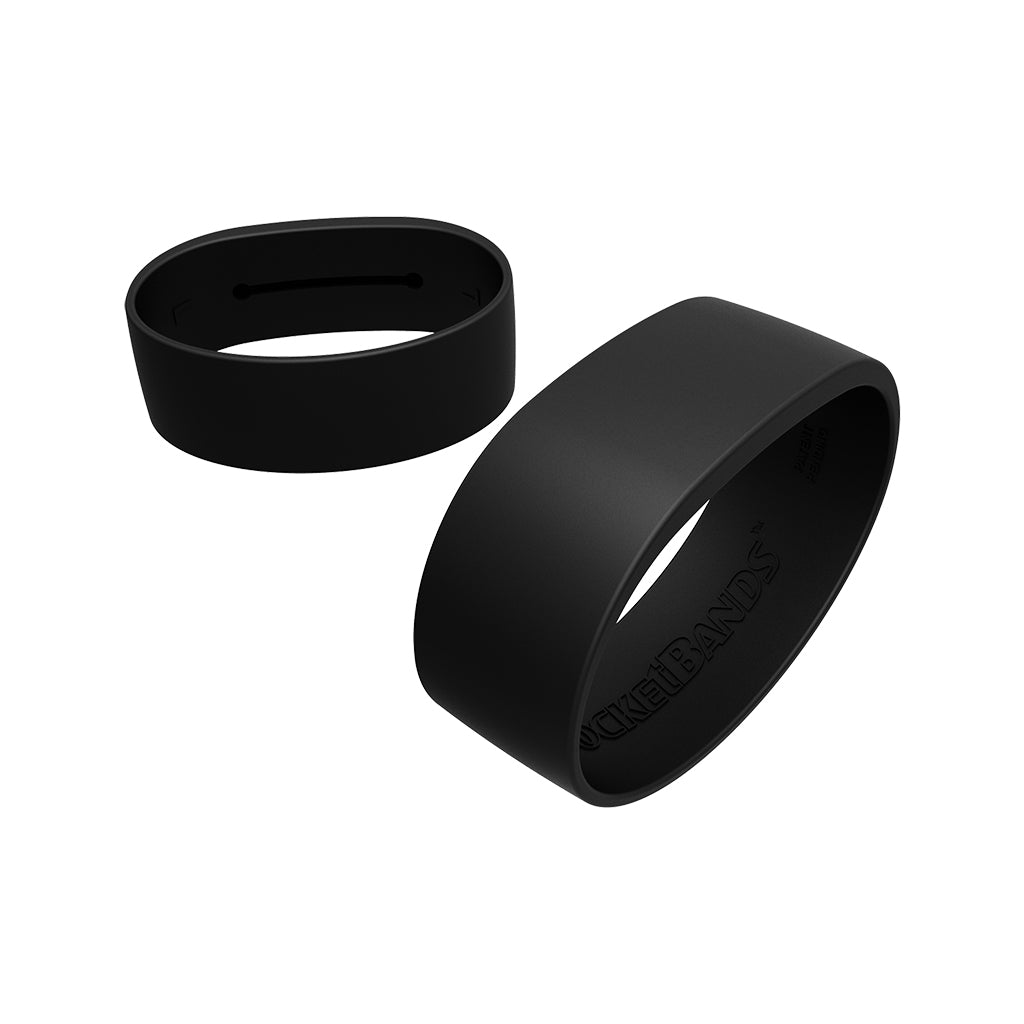 Pocketbands 2.0 Black Silicone Wristband With Hidden Pocket For Key