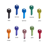 Aluminum key blanks anodized colored keys kwikset