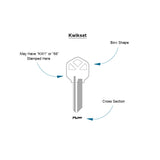 kwikset key type guide aluminum key blanks color