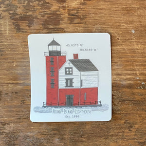 Round Island Sticker | Red Cabin Studio