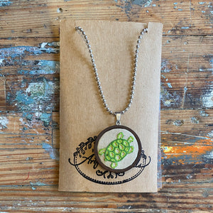 Turtle Embroidered Necklaces | Jennifer Duyck