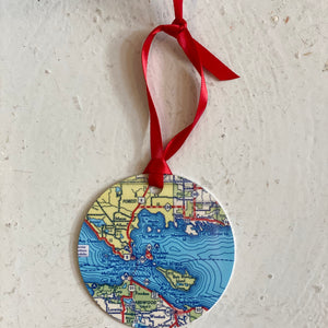 Map Christmas Ornament | Daisy Mae