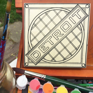 Detroit Manhole | Coloring Board Kit