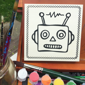 Robot Face | Coloring Board Kit